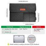 """dodocool 13.3 pouces Housse de Protection d'Ordinateur Sacoche Manche Portable en feutre avec Petite Poche pour Apple 13"""" MacBook Air / 13"""" MacBook Pro, Gris Fonce de la marque dodocool image 1 produit"""