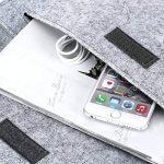 dodocool 13.3 pouces Housse de Protection d'Ordinateur Sacoche Manche Portable en feutre avec Petite Poche pour Apple 13 Pouces MacBook Air/13 Pouces MacBook Pro Gris de la marque dodocool image 4 produit