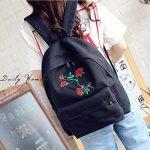 Doitsa 1X Sac à Dos en Toile College Lycée Scolaire Voyages Simple Loisirs Fille Femme Sac à Dos Backpack School Motif Rose de la marque Doitsa image 2 produit