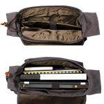 Estarer Sac Ordinateur Portable 13.3 14 Pouces Homme Toile Vintage Sacoche pc Bureau Mallette Messenger Bandoulière Laptop Gris de la marque Estarer image 2 produit