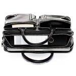 FERGÉ® sac pour ordinateur portable BETH - grand XL cartable messager sac business 15.4 file pouces - sac à bandoulière homme femme noir cuir de la marque FERGÉ image 4 produit