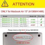 Fintie Coque MacBook Air 13 - Haute Qualité Plastique Transparent Dur étui Housse pour Apple MacBook Air 13.3 Pouces (A1466 / A1369) , Transparent Clair de la marque FINTIE image 1 produit