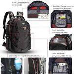"""FreeBiz 15.6 pouce Sac à Dos Ordinateur Portable Anti-choc Backpack Imperméable Rucksack 15"""" pouce de gaming Laptop pour Dell, Asus, MSI, etc.Noir de la marque freebiz image 4 produit"""