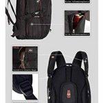 FREEBIZ Sac à Dos Ordinateur Portable PC Backpack Laptop Multifonction 18,4 pouces 50L Imperméable Unisexe Trekking Camping Randonnée Voyage Affaire Bureau Scolaire Noir de la marque Freebiz image 4 produit