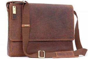 """Gibecière pour ordinateur portable 15"""" A4 en cuir signé Visconti (18516) de la marque Visconti image 0 produit"""