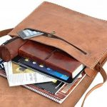 """Gusti Cuir nature """"James"""" sac messenger sac bandoulière sac ordinateur portable Macbook-Pro 15"""" iPadAir 9,7"""" besace en cuir sac en cuir véritable sac sacoche sac porté épaule marron clair B12 de la marque Gusti image 2 produit"""