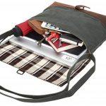 """Gusti Cuir studio """"Kirsten"""" sac à bandoulière sac à main en cuir sac d'ordinateur portable 13"""" hommes femmes toile de coton et cuir de buffle 2H53-26-57 de la marque Gusti image 2 produit"""