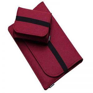 Gwell Housse de Protection d'Ordinateur Sacoche Manche Portable en feutre (18 pouces, Lot de 2 rouge vineux) de la marque GWELL image 0 produit