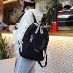 Haoling Sacs d'école de Preppy de sac à dos de grande capacité pour des adolescents Sacs de voyage en nylon femelle Filles Bowknot Backpack de la marque Haoling image 4 produit
