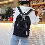 Haoling Sacs d'école de Preppy de sac à dos de grande capacité pour des adolescents Sacs de voyage en nylon femelle Filles Bowknot Backpack de la marque Haoling image 2 produit