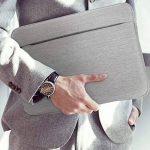 """Housse de Protection Ordinateur 13-13.3"""", AtailorBird Pochette PC Portable Netbook Ultrabook Sacoche Laptop Compatible 13-13.3 Pouces pour Macbook Acer Asus Dell Fujitsu Lenovo HP Toshiba - Gris Clair de la marque A Tailor Bird image 4 produit"""