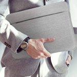 """Housse de Protection Ordinateur 15.6-16"""", AtailorBird Pochette PC Portable Netbook Ultrabook Sacoche Laptop Compatible 15.6-16 Pouces pour Acer ASUS Dell Fujitsu Lenovo HP Toshiba - Gris Clair de la marque A Tailor Bird image 4 produit"""