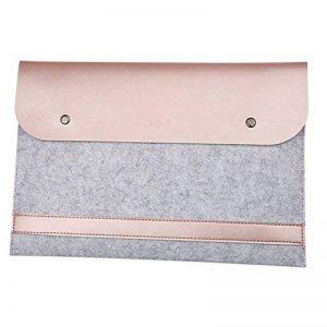 Housse Feutre & Cuir Synthétique Microfibre Résistant à l'Eau Pochette Sacoche pour 11.6-15.4 MacBook Notebook Ultrabook Tablet PC de la marque MISSMAO image 0 produit