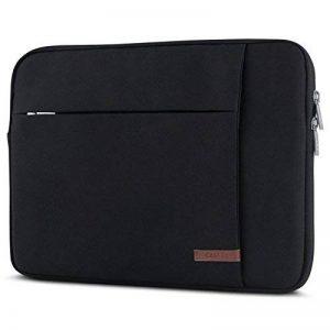 """Housse Ordinateur Portable 15 – 15,6"""" Noir - CASEZA London Sac pour Notebook 15"""", Dell HP Toshiba Acer Asus Lenovo & + – Sac à Main pour PC Portable 15"""" résistant à l'eau avec 2 Poches de la marque CASEZA image 0 produit"""