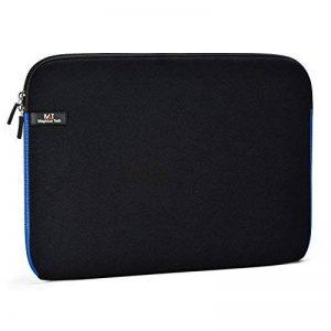 Housse pour ordinateur portable 14-14.1, Néoprène Résistant à L'eau Laptop Case, Porte-documents Sac de Transport Pour Acer/Asus/Dell/Fujitsu/Lenovo/HP/ Samsung/Sony/oshiba (14.1 Noir&Bleu) de la marque Magiclux Tech image 0 produit