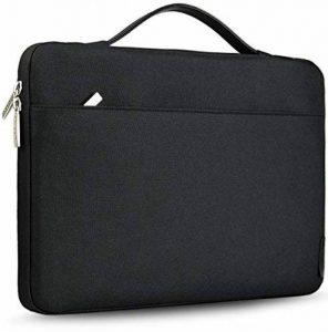 """HSEOK Sac Bandoulière pour Ordinateur Portable 15,6"""" Dell/Ausu/Acer/HP/Toshiba/Lenovo Sacoche Multifonction en Polyester & Waterproof,[Dimension Intérieure:38 x 26,5 cm]- Noir de la marque Hseok image 0 produit"""