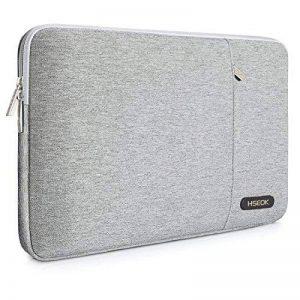 """HSEOK Sacoche Pour Ordinateur Portable Apple New MacBook 12"""", Housse Antichoc en Nylon avec Pochette Ordinateur Mac Waterproof, Gris de la marque Hseok image 0 produit"""