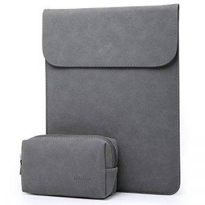 HYZUO 13 Pouces Housse Ordinateur Portable Pochette PC Protection Sacoche pour 13,3 Pouces Nouveau MacBook Pro 2016-2018/ Surface Pro 2017/ Surface Pro 4/3 / Dell XPS 13 avec Petit étui, Gris foncé de la marque HYZUO image 0 produit