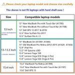 """HYZUO 15-15,4 Pouces Housse Ordinateur Portable Pochette PC Protection Sacoche pour 15,4"""" Nouveau MacBook Pro avec Touch Bar/15,4"""" MacBook Pro Retina/15,6"""" Dell XPS 15 avec Petit étui, Gris foncé H de la marque HYZUO image 1 produit"""