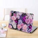 iCasso Coque MacBook Air Case, Coque MacBook Pro Case Ultra Slim étui Housse de Protection Hard Rigide Cover Shell MacBook Air, Pro, Pro Rentina (Purple Flower) de la marque iCasso image 3 produit