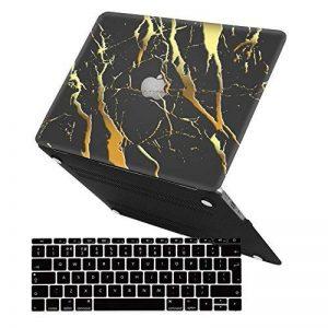 iCasso Macbook Air 13 pouces Case, Noir Or Marbre Soft-Touch Matte Scratch Couverture en plastique pour Macbook Air 13 pouces (Modèle: A1369 & A1466) de la marque iCasso image 0 produit