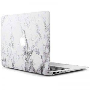 iDOO Coque Rigide en Mat givré en caoutchouc [Pour MacBook Air 13 pouces: A1369 / A1466] - Marbre Blanc de la marque iDOO image 0 produit