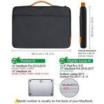 """Inateck 13-13,3 Pouces Housse MacBook Air/MacBook Pro 2012-2018/12,3"""" Surface Pro/13 Pouces Sacoche Ordinateur Portable de la marque Inateck image 1 produit"""