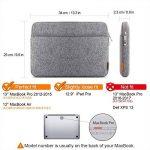 """Inateck Housse d'Ordinateur Portable 13-13.3"""" en Feutre Gris, Design Combiné pour MacBook Air/MacBook Pro 2012/2013/2014/2015 et d'Autres PC Portables DE 13"""" de la marque Inateck image 1 produit"""