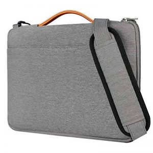 Inateck sac à bandoulière pour ordinateurs portables 14 pouces, 15 pouces MacBook Pro Retina 2016/2017/2018(A1707/A1990), ThinkPad, Acer, ASUS, HP, Lenovo et Dell, gris de la marque Inateck image 0 produit