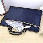 Jia HU 1pièce hexagonal ordinateur portable Porte-documents Sac à bandoulière Portefeuille Document Organzier pour voyages d'affaires bleu de la marque Jia Hu image 3 produit