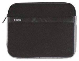 """König CSNBSLV300BL 18"""" Housse Noir, Gris Sacoche d'ordinateurs Portables - Sacoches d'ordinateurs Portables (Housse, 45,7 cm (18""""), Noir, Gris) de la marque König image 0 produit"""