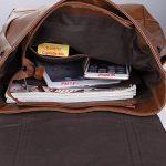 """Koolertron-Sac à dos Classique Casual PU cuir pour ordinateur portable(14 """") Mode Vintage unisexe pour l`école camping Voyage de la marque Koolertron image 2 produit"""