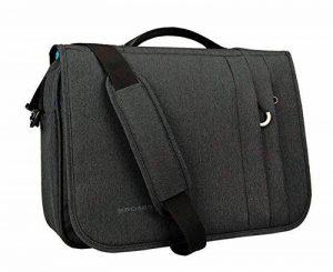 Kroser Briefcase sacoche pour ordinateur portable 40,6cm Sac d'ordinateur portable hydrofuge unité centrale à rabat Business épaule Malette avec poches RFID pour Business/collège/homme/femme noir charbon de la marque KROSER image 0 produit