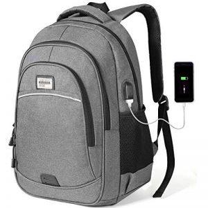 KUSOOFA Sac à Dos Ordinateur, 15.6 Pouces Sac a Dos Portable avec Port USB de Charge Sac a Dos d'affaire 35L pour Hommes Femmes (Gris) de la marque KUSOOFA image 0 produit
