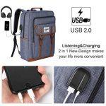 KUSOOFA Sac Ordinateur 17.3 Pouces Sac à Dos Homme avec Port USB de Charge et Trou Écouteur 35L Sac a Dos d'affaire pour Hommes Femmes (Bleu) de la marque KUSOOFA image 1 produit