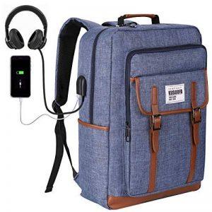 KUSOOFA Sac Ordinateur 17.3 Pouces Sac à Dos Homme avec Port USB de Charge et Trou Écouteur 35L Sac a Dos d'affaire pour Hommes Femmes (Bleu) de la marque KUSOOFA image 0 produit