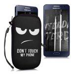"""kwmobile Housse de Protection pour Smartphone M - 5,5"""" - Sacoche de Protection pour téléphone en néoprène Blanc Noir de la marque kwmobile image 4 produit"""