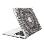 """kwmobile Étui Transparent Coque pour Apple MacBook Air 13"""" (à partir de mi 2011) avec Design Soleil Indien - Étui de Protection Coque pour Ordinateur Portable Transparent en Noir Transparent de la marque kwmobile image 4 produit"""