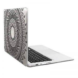 """kwmobile Étui Transparent Coque pour Apple MacBook Air 13"""" (à partir de mi 2011) avec Design Soleil Indien - Étui de Protection Coque pour Ordinateur Portable Transparent en Noir Transparent de la marque kwmobile image 0 produit"""