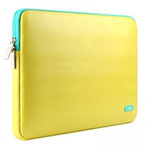 Laptop Bag Pour 13.0-14.0 Pouce Ordinateur Portable,Luxe PU Cuir Notebook Antichoc Computer Briefcase Sacoche Case Cover Pour Apple Macbook Air 13.3'' / Macbook Pro (Retina) 13.3'' / Asus Zenbook / Lenovo / Samsung / Sony / Chromebook (Jaune) de la marque image 0 produit