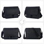 Leathario sac en cuir sac messenger voyage porte-documents sac a epaule de la marque Leathario image 3 produit