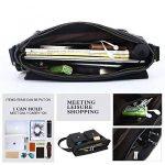 Leathario sac en cuir sac messenger voyage porte-documents sac a epaule de la marque Leathario image 4 produit