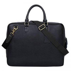 Leathario sac homme porte document sac en cuir sac ordinateur homme cuir sac à épaule de la marque Leathario image 0 produit