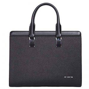 Leathario sac porte document sac serviette cuir véritable sac à main en cuir unisex sac porte épaule sac mesager cartable unisex en cuir de la marque Leathario image 0 produit