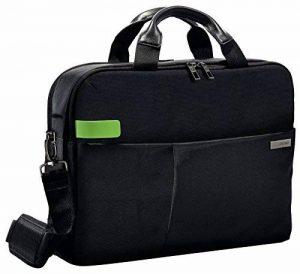 """Leitz Sac pour ordinateur 15.6"""", 18 poches de rangement, Noir, Polyester Déperlant et Cuir Véritable, Smart Traveller, 60160095 de la marque Leitz image 0 produit"""