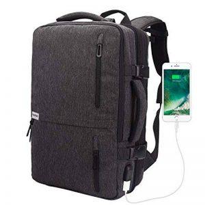 Lifeasy Voyage Sac à Dos pour Grande Capacité Ordinateur Portable 40L Vol Approuvé sur Daypack Weekend Extensible Sac à Dos Polyvalent avec Port de Charge USB Sac à Bandoulière pour Sac à Main (Gris) de la marque Lifeasy image 0 produit