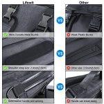 Lifewit Sac à Dos Ordinateur Portable, Sac à Bandoulière Laptop 15.6 pouces Backpack Rucksack avec Couverture de Pluie Unisexe Femme Homme pour Randonnée Voyage Scolaire Bureau Trekking (Sac à Bandoulière/Sac à dos( 3-en-1)) de la marque Lifewit image 1 produit