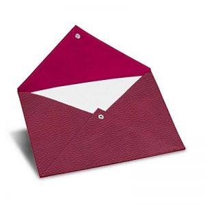 Lucrin - Enveloppe A5 - Fuchsia - Cuir Grainé de la marque Maroquinerie Lucrin image 0 produit