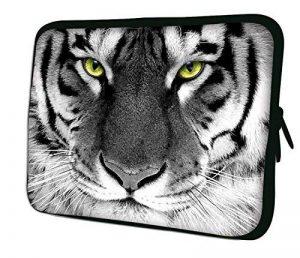 """Luxburg 10"""" pouces Housse Sacoche Pochette pour ordinateur portable / tablet - Blanc Tigre de la marque Luxburg® image 0 produit"""