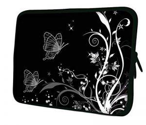 """Luxburg 15"""" Pouces Housse Sacoche Pochette pour Ordinateur Portable/Tablet - Artwork Papillons (B & W) de la marque Luxburg® image 0 produit"""